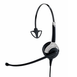 Kabelgebundenes Profi Headset, monaurales Headset, Sprechgarnitur 1 Ohrmuschsel