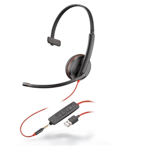 Office Headset, Callcenter Headset, VoIP Headset, monaurales Softphone Headset