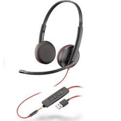 USB Headset mit Smartphone Stecker, Plantronics Headset, Callcenter Headset, Office Headset