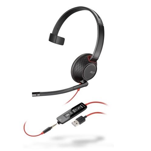 USB Headset binaural, Plantronics Headset, UC Headset, Office Headset, Callcenter Headset, VoIP Headset, monaurales Softphone Headset