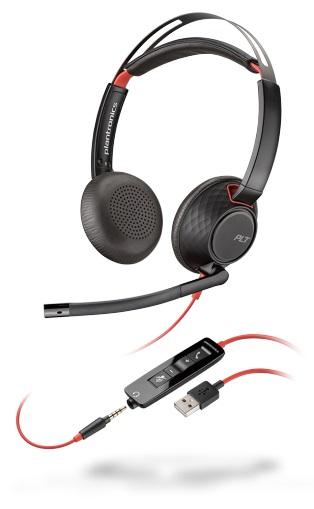 USB Headset, Plantronics Headset, binaurales USB Headset, Callcenter Headset, Büro Headset, Office Headset, VoIP Headset, UC Headset