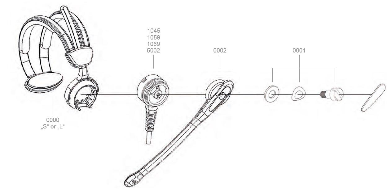 Spare headset BATSTAR Comfort, Warenhaus Headset-Teile