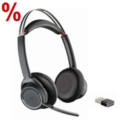 Bluetooth-Headset, UC-Headset, Headset mit BT-Dongle, Poly Headset